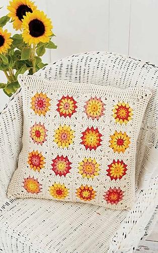 Sunflower Motif Pillow