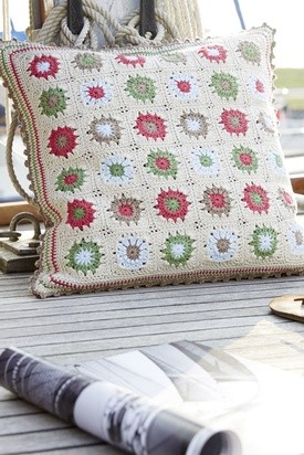 Linen Granny Square Pillow