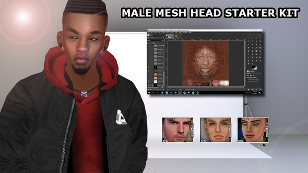 Male Mesh Head Kit for SAL Mesh Heads by VLADDY