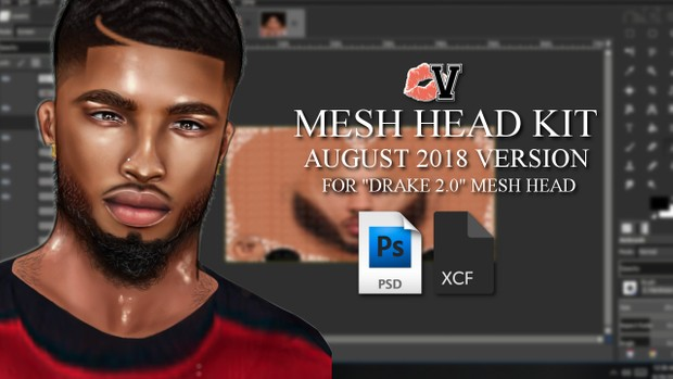 2018 Male Mesh Head Kit for Drake 2 0 by VLADDY