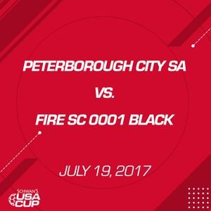 Girls U17 Gold - July 19, 2017 - Peterborough City SA 2000 vs Fire SC 0001 Black