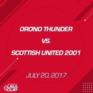 Girls U16 Gold - July 20, 2017 - Orono Thunder vs Scottish United 2001
