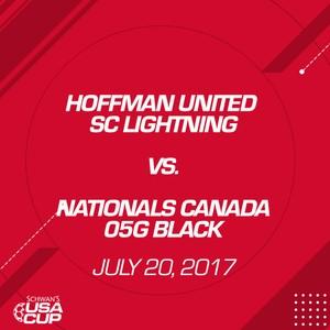 Girls U12 11v11 - July 20, 2017 - Hoffman United SC Lightning vs Nationals Canada 05G Black