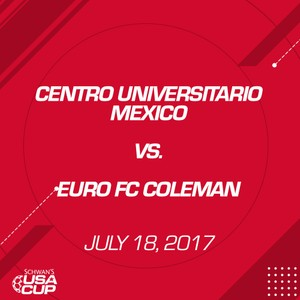 Boys U19 Silver - July 18, 2017 - Centro Universitario Mexico vs Euro FC Coleman