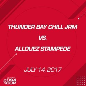 Boys U16 - July 14, 2017 - Thunderbay Chill JRM vs Allouez Stampede