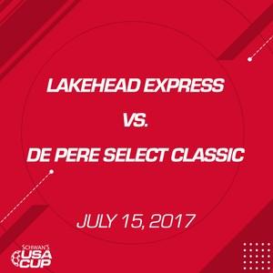 Girls U16 - July 15, 2017 - Lakehead Express V. De Pere Select Classic