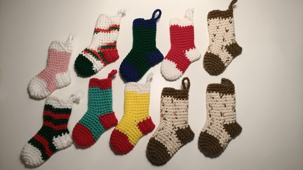 READY TO SHIP: Mini Christmas Stockings