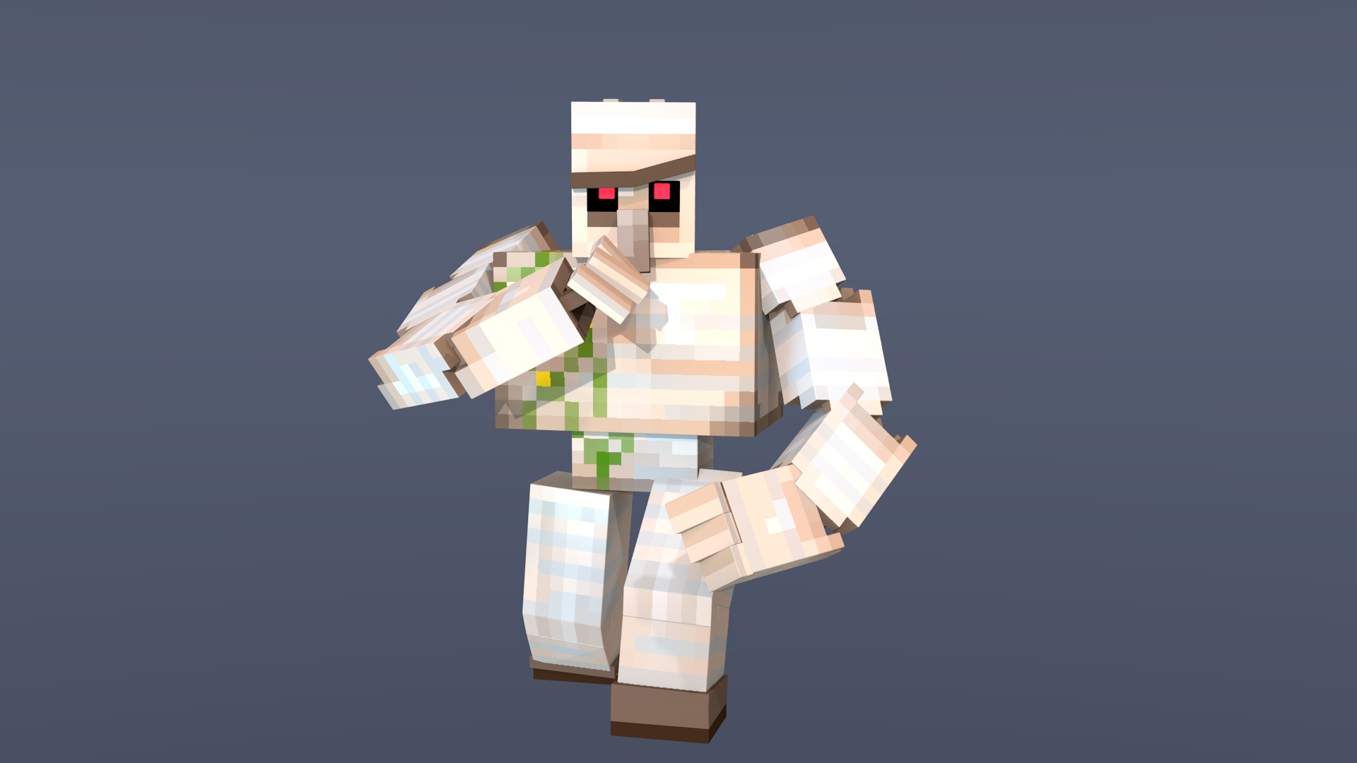 Minecraft Iron Golem Rig Blender