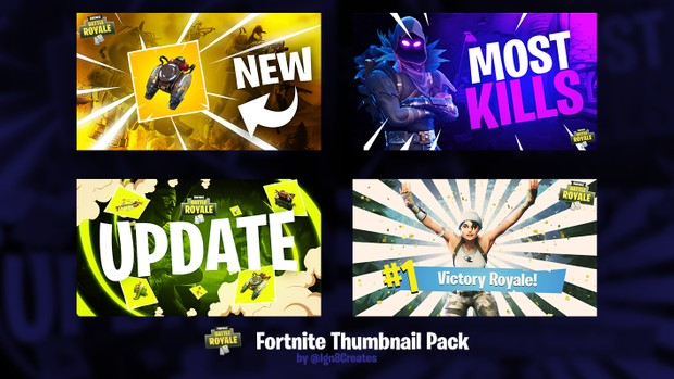 Fortnite Thumbnail Template Pack Fortnite Recource