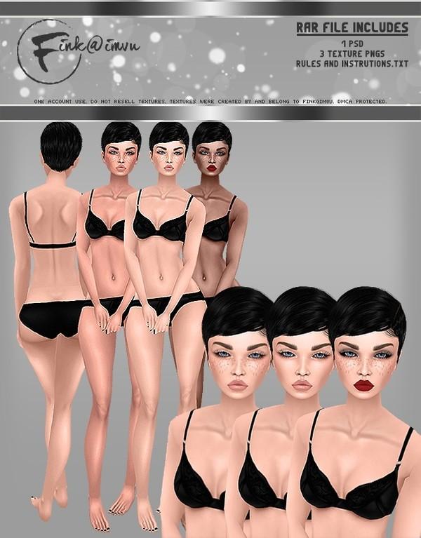 Female Skin Set with Adjustable Make-up