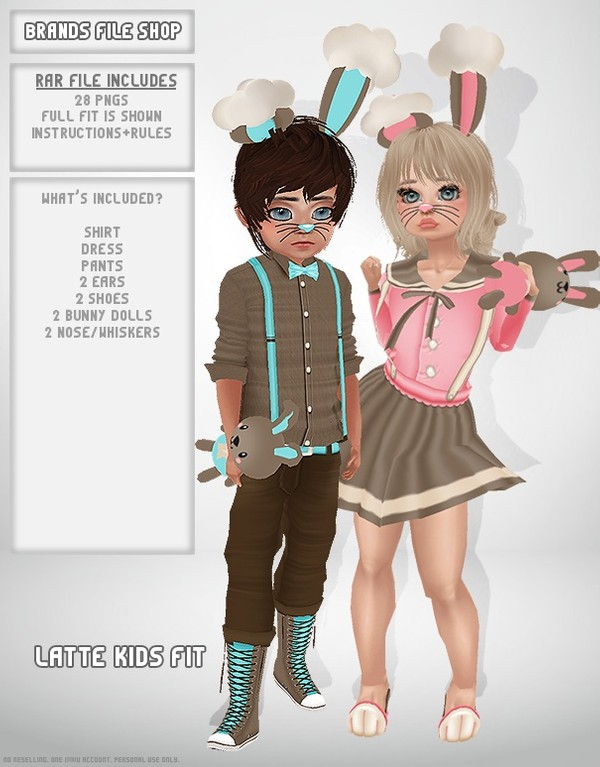 Kids Latte Bunny Fits (Boy and Girl)