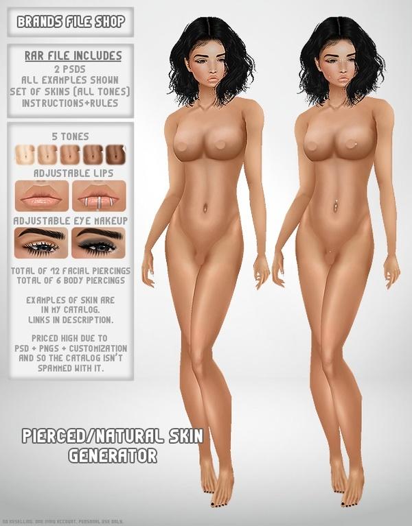 Pierced/Natural Skin Generator