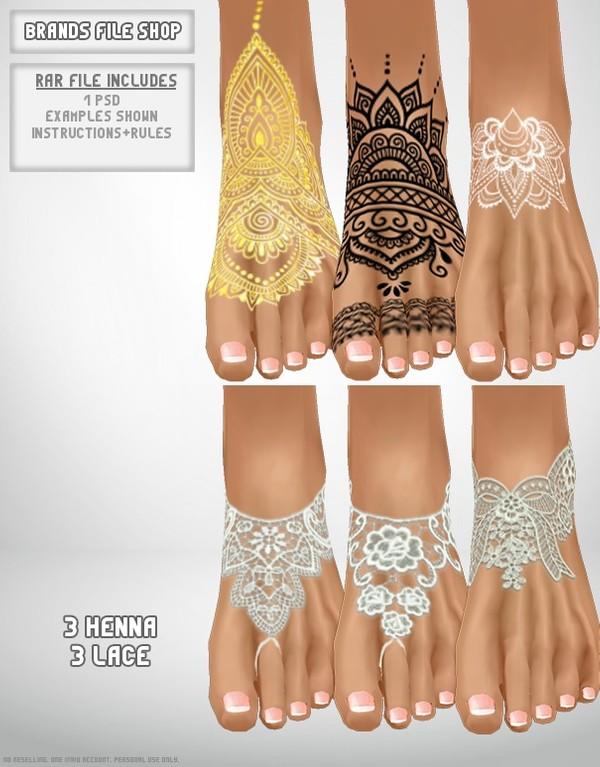 3 Henna 3 Lace