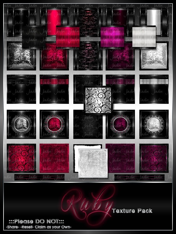 Birthstone July--Ruby Texture Pack-- $13.00