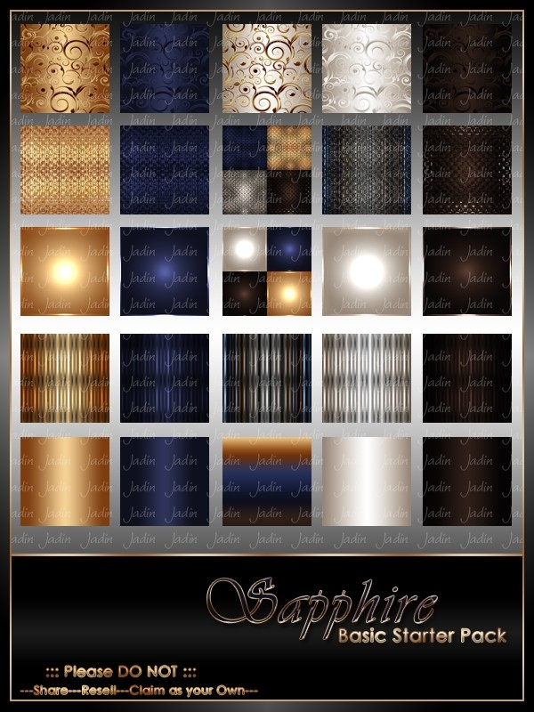 Sapphire Basic Texture Pack-- $2.00