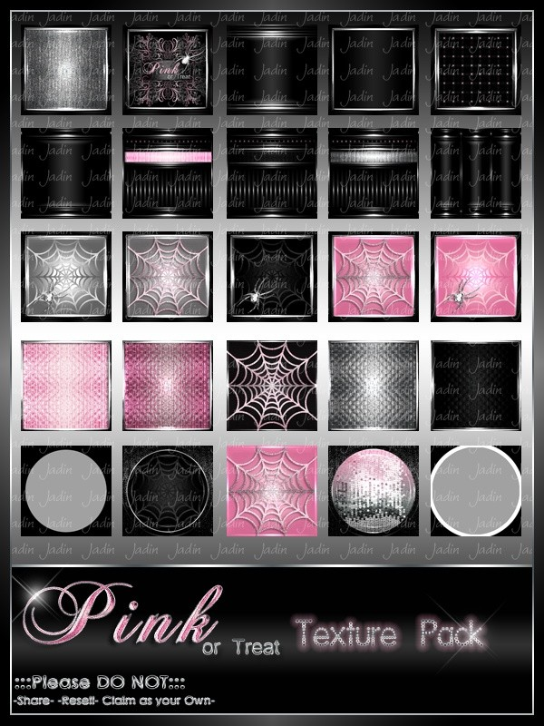 Pink or Treat Texture Pack-- $13.00