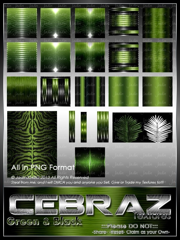 Cebraz Green Color Texture Pack -- $2.00