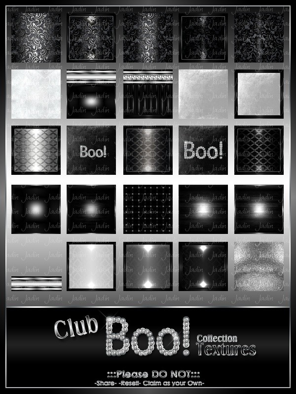 Club BOO Texture Pack-- $7.00
