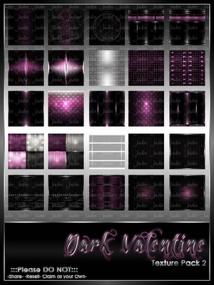 Dark Valentine Texture Pack #2-- $6.00