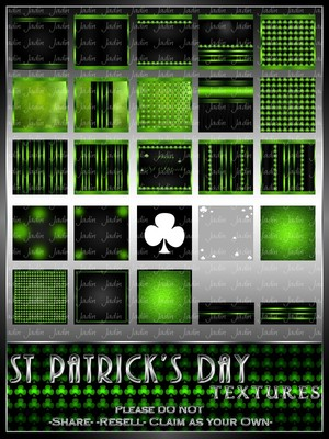 St Patrick's Day Texture Pack-- $2.00