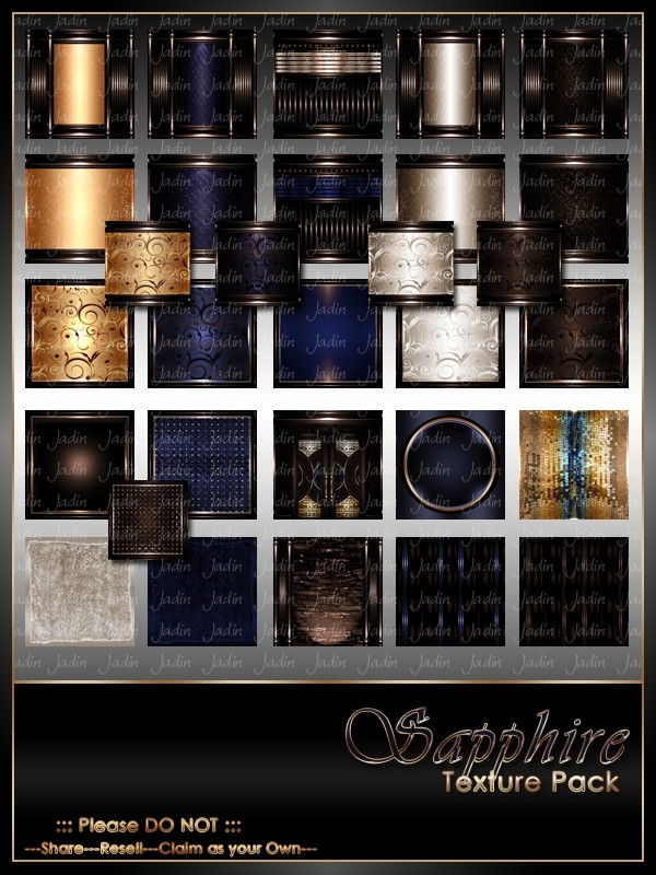 Sapphire Texture Pack-- $13.00