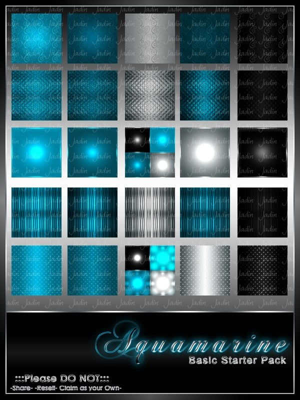 Aquamarine Basic Texture Pack-- $2.00