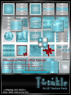 Twinkle:  BLUE Texture Pack-- $6.00