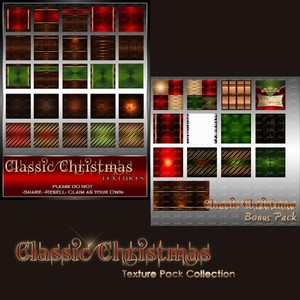 Classic Christmas Texture Pack-- $3.00