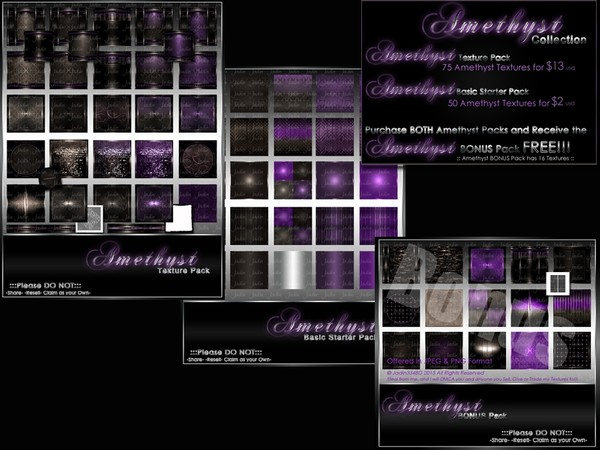 Amethyst Birthstone Collection-- $15.00