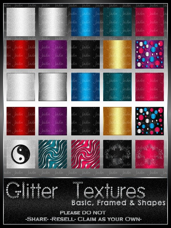 Basic Glitter Pack --- $1.00