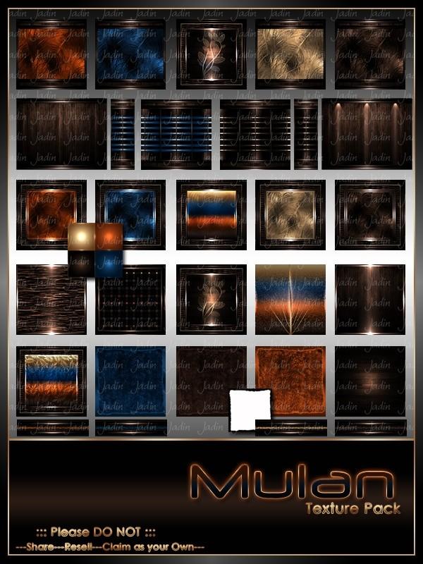 Mulan Texture Pack-- $10.00