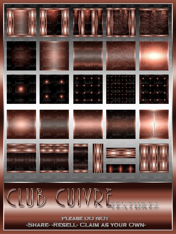 Cuivre Texture Pack --- $5.00