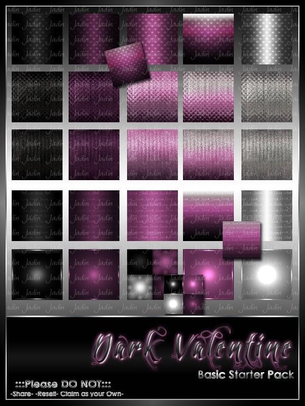 Dark Valentine Basic Texture Pack-- $2.00