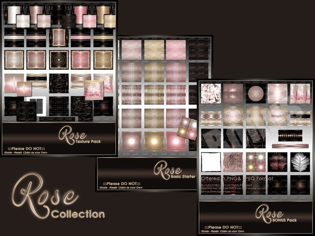 Birthstone October--Rose Texture Pack Collection-- $15.00