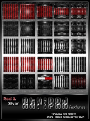 Red & Silver Stripe Texture Pack --- $5.00