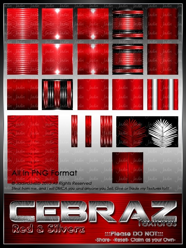 Cebraz Red/Silver Texture Pack -- $2.00