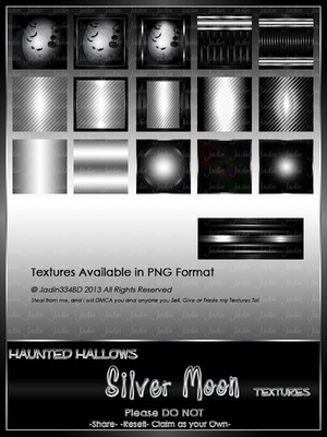 Haunted Hallows SILVER Moon Texture Pack-- $2.00