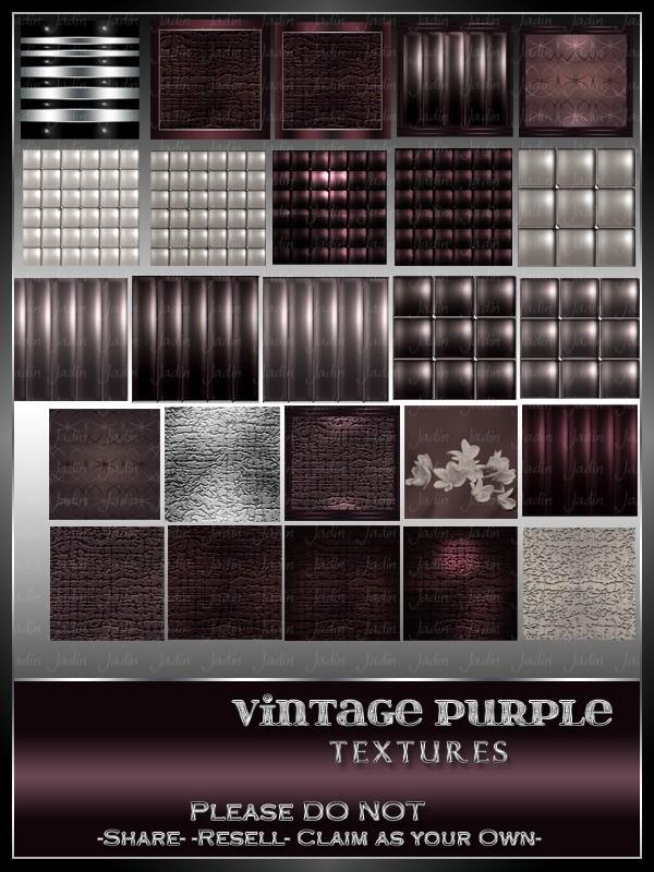 Vintage Purple Texture Pack -- $5.00