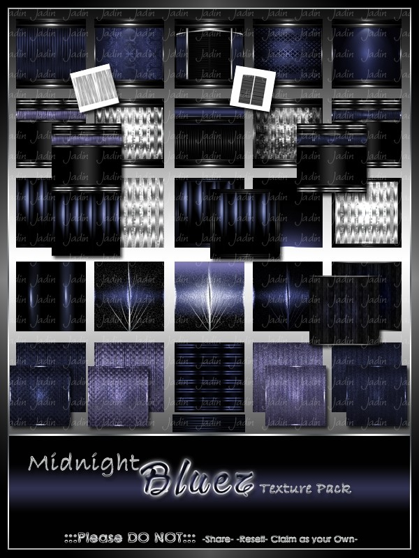 Midnight Bluez Texture Pack-- $8.00
