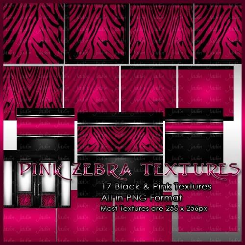 Pink Zebra Texture Pack -- $2.00
