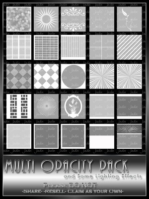 Opacity Texture Pack 1 --- $1.00