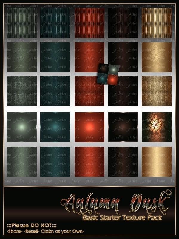 Autumn Dusk Basic Texture Pack-- $2.00