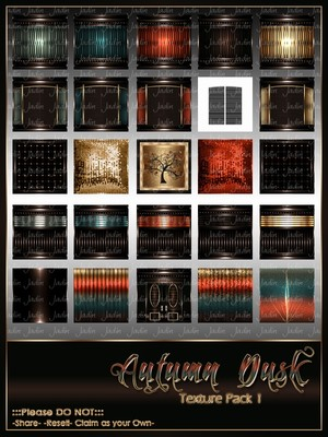 Autumn Dusk Texture Pack 1 -- $12.00