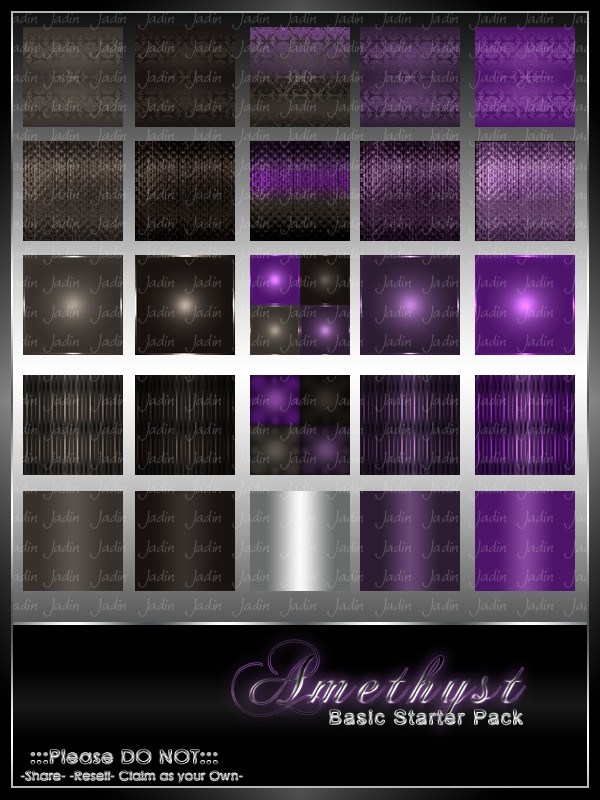 Amethyst Basic Texture Pack-- $2.00