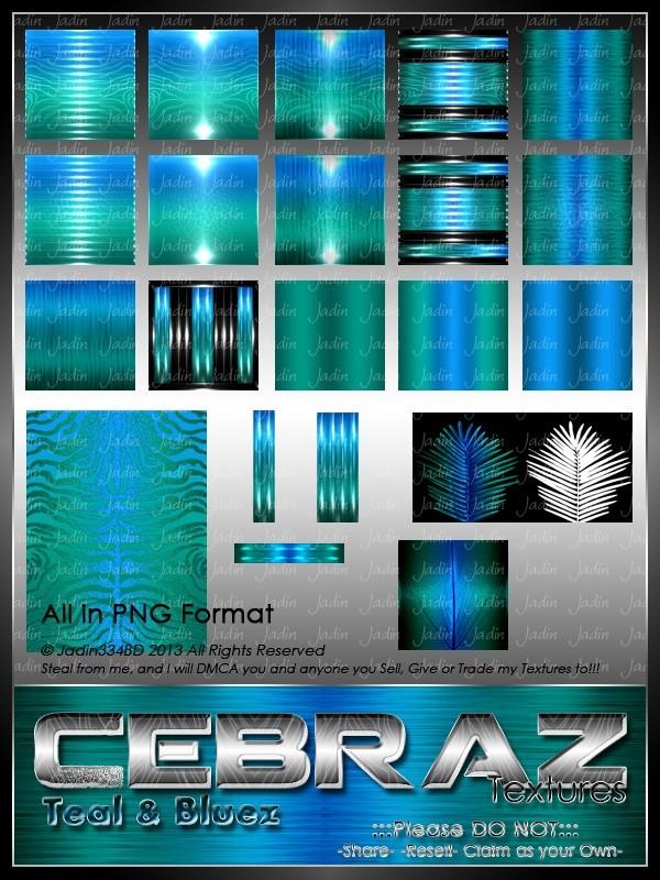 Cebraz Teal/Bluez Texture Pack -- $2.00