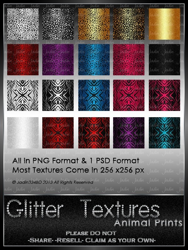 Glitter Animal Print Texture Pack -- $2.00