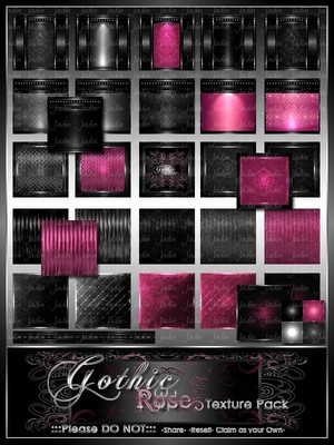 Gothic Rose Texture Pack -- $10.00
