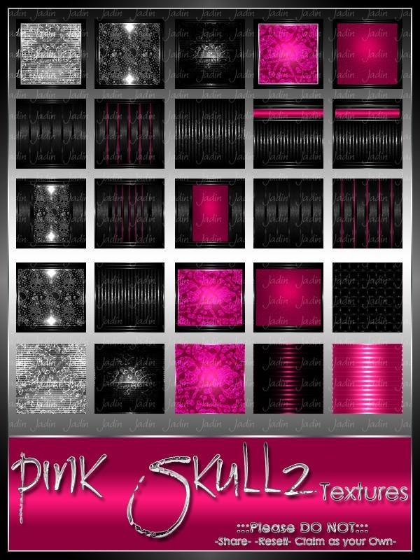 Skullz Pink Texture Pack-- $8.00