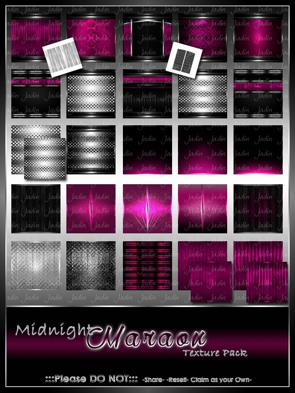 Midnight Maraon Texture Pack -- $8.00