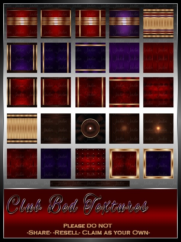 Club Bed Royal Texture Pack --- $5.00